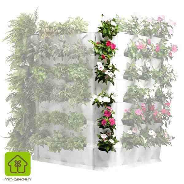 Minigarden rinconero blanco for Modulo jardin vertical