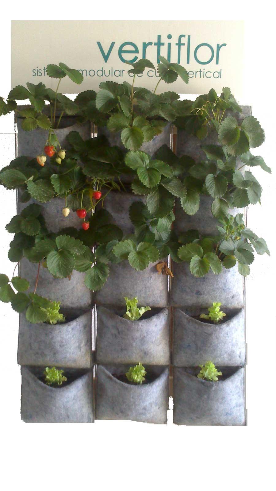 Vertiflor cultivo vertical 15 macetas for Cultivos verticales definicion